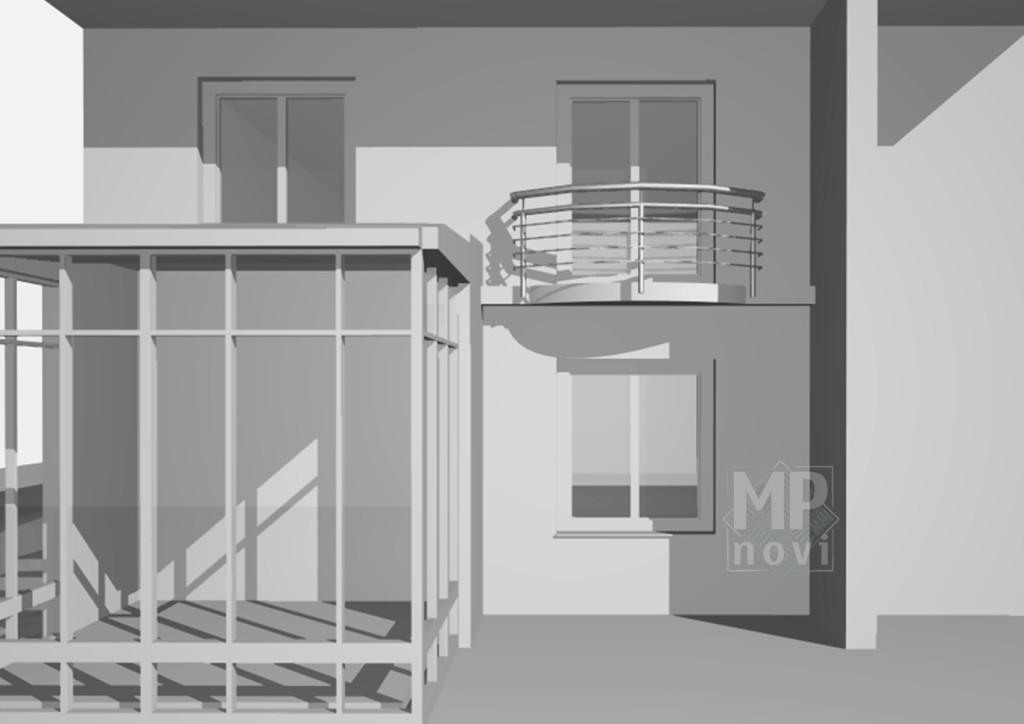 WIzualizacja - balustrada balkonowa