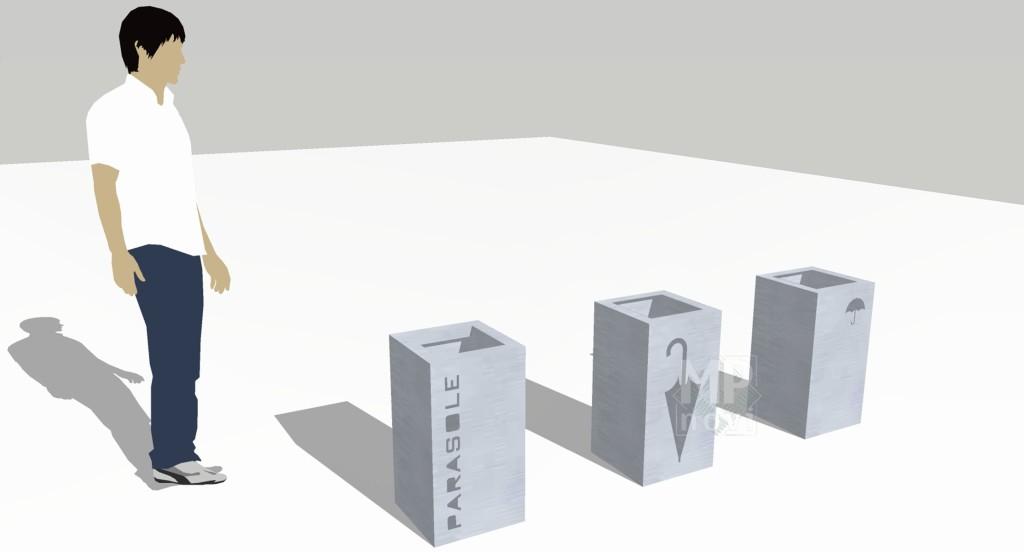 Wizualizacja - stojak na parasole